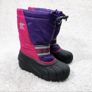Sorel Pink and Purple Winter Boots